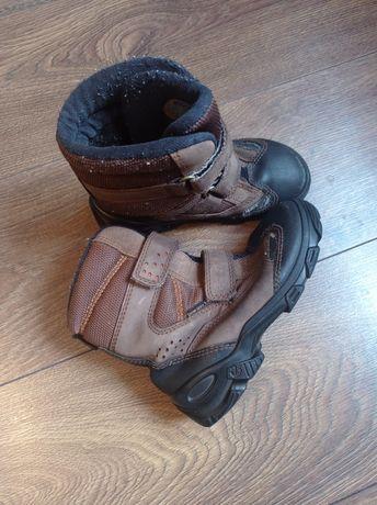 Зимние сапоги Ecco gore tex, р. 29, 19 см стелька, кожаные, ботинки