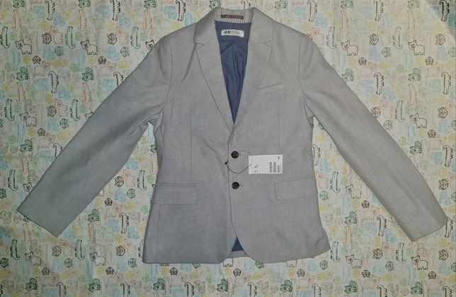 Новый с бирками хлопковый пиджак H&M, 140р