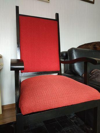 Krzesło fotel z podłokietnikami vintage PRL