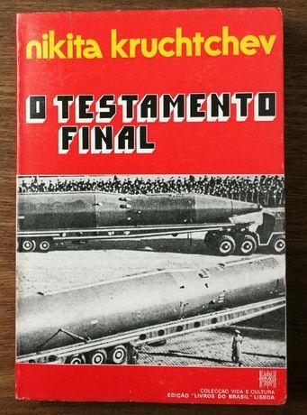 o testamento final, nikita kruchtchev, livros do brasil