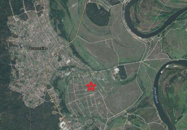 Продам земельну ділянку с.Воропаїв 20соток.