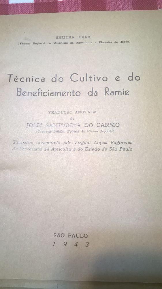 1943-Tecnica do cultivo e do beneficiamento da Ramie Alcanhões - imagem 1