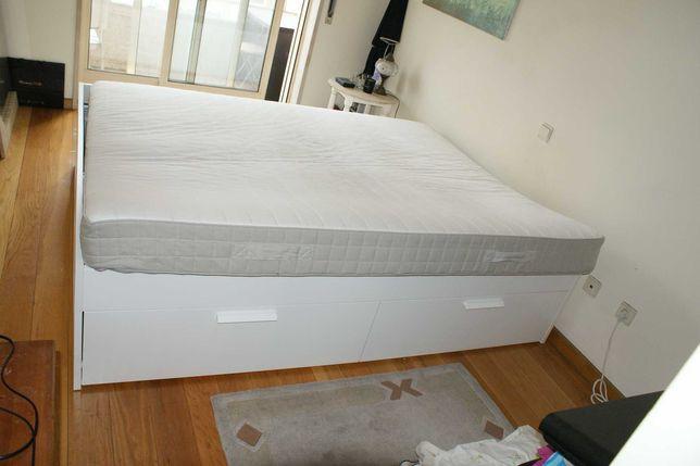 Colchão de molas, firme/bege 160x200 cm