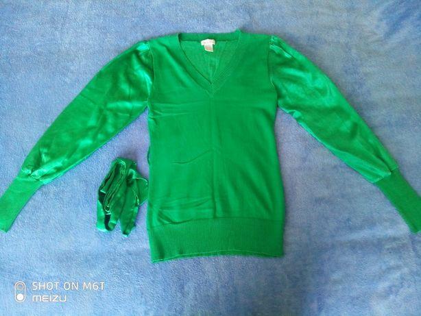 Кофта зеленого кольору з поясом