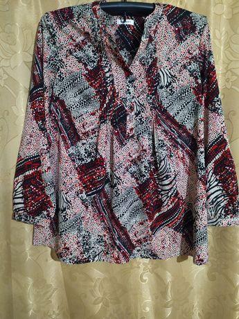 Свободная шифоновая блуза 2XL. Кофта. Рубашка.Блузка.