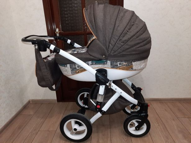 Детская коляска ADAMEX Barletta World Collection + ходунки