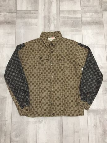 Куртка бомбер Gucci monogram джинсовка ysl