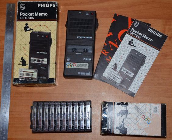 Диктофон PHILIPS Pocket Memo LFH 0285 mini +10 микрокассет