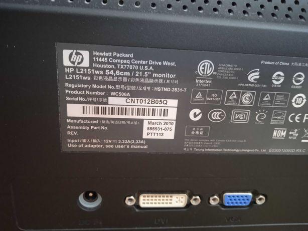 Monitor HP L2151ws 21.5
