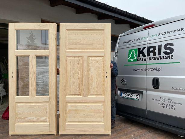 Drzwi Drewniane Sosnowe z Oscieżnicą Dostawa Cały Kraj