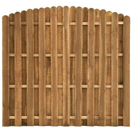 vidaXL Painel de vedação em madeira de pinho 180x(155-170) cm 49013