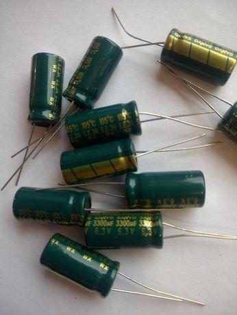 Конденсаторы электролитические от 6,3V и выше.