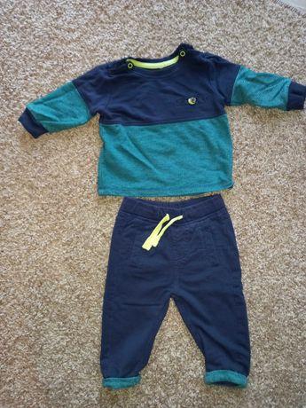 komplet chłopięcy bluzka + spodnie 68