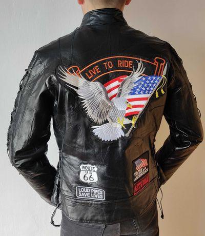Kurtka skórzana motocyklowa na motocykl skóra Live to Ride rozmiar L