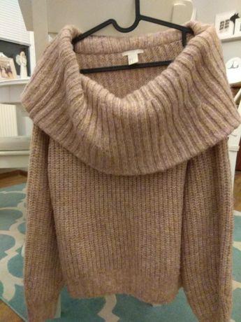 Sweter z odkrytymi ramionami H&M rozmiar M
