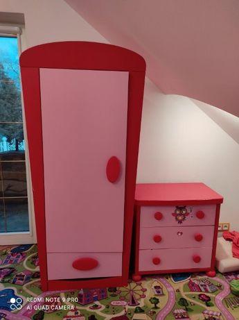 Zestaw mebli Ikea seria Mamut - 2 szafy i 2 komody, dla dziewczynki