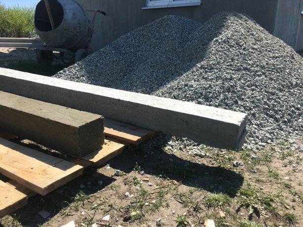 Перемычки, балки бетонные из тяжелого бетона или керамзитобетона любые