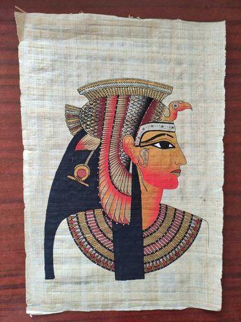 Папирус с изображение египетской богини, Египет