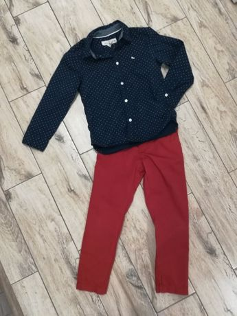 Komplet H&M r. 116/122 koszula plus spodnie. Idealny na święta