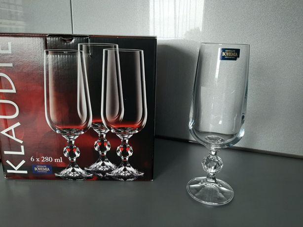 Pokale kieliszki do piwa Klaudie Bohemia Crystal