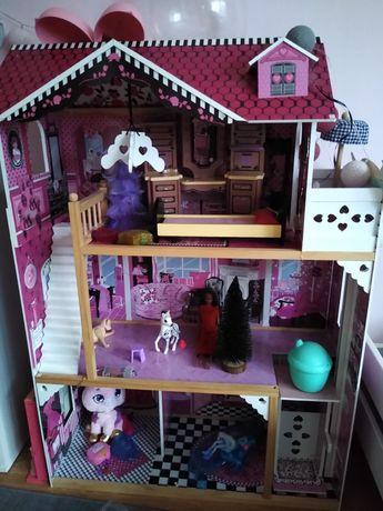 Domek duży  drewniany dla lalek Barbie