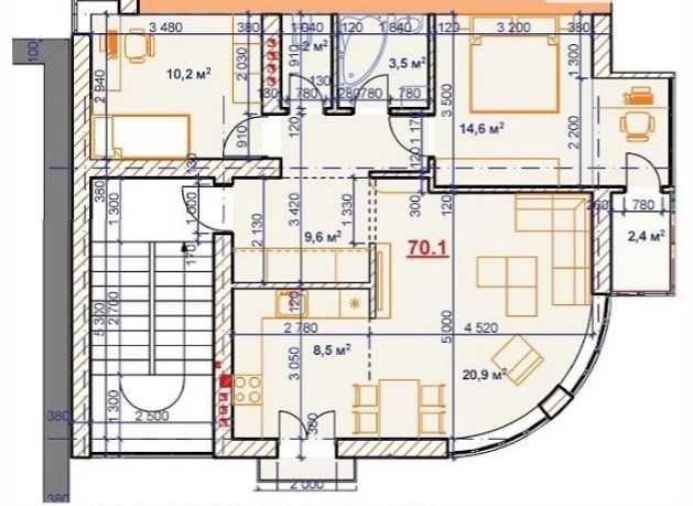 Оренда приміщення 73 м2 у центрі під офіс