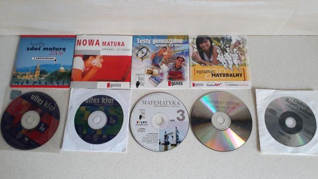 Płyty CD programy szkolne, testy,gry, muza, sterowniki