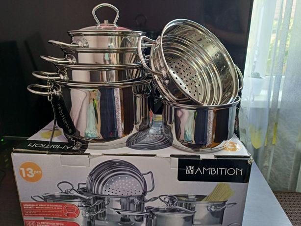 Набір посуду з нержавіючої сталі