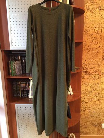 Платье трикотаж ангора плаття сукня теплое тепле бохо макси длинное