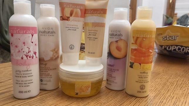 Avon balsamy pelingi do ciała szampony odżywki do włosów naturals