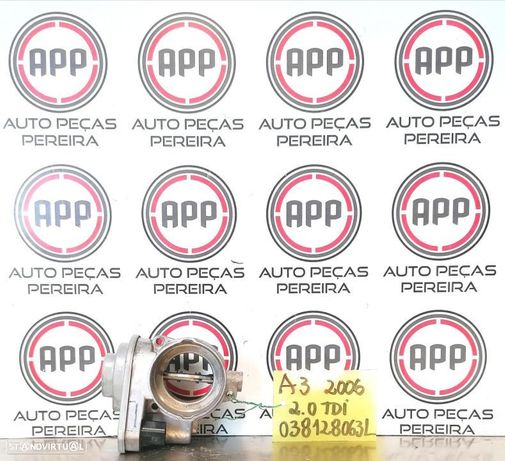 Borboleta de admissão Audi A3, Golf 5, Skoda Octavia, Leon 1P 2.0 TDI referência 038128063L