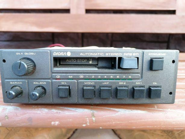 Radio samochodowe unitra diora rps 611 stare radio antyk prl