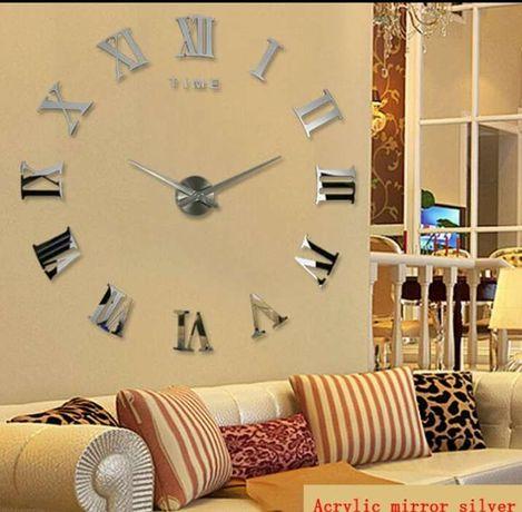 Relógio de parede (preto e prata)