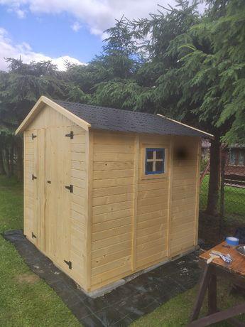Domek narzędziowy ogrodowy drewniany 210x210x220