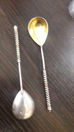 Ложка срібна 875 з позолотою
