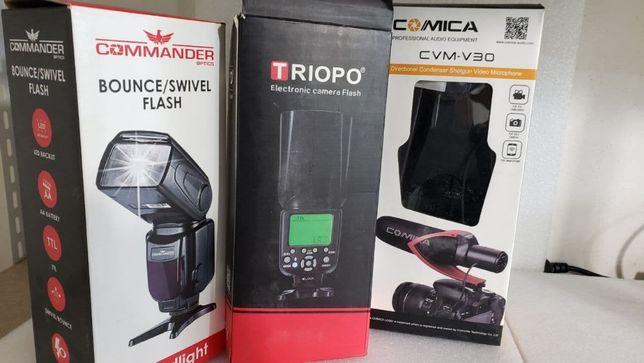 Вспышки для Canon и микрофон Comica
