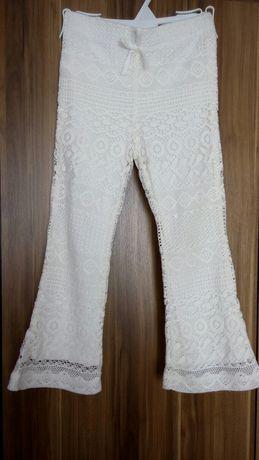 Koronkowe spodnie firmy H&M rozm. 104