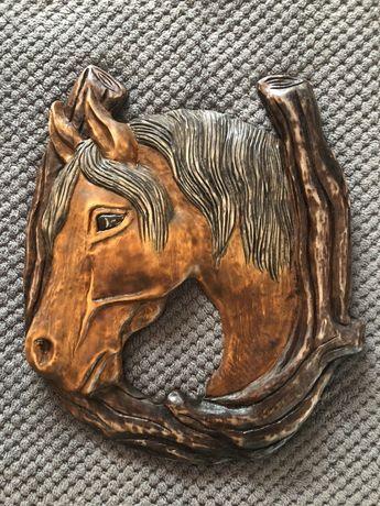 Podkowa, rzeźba drewniana, koń, rękodzieło, prezent