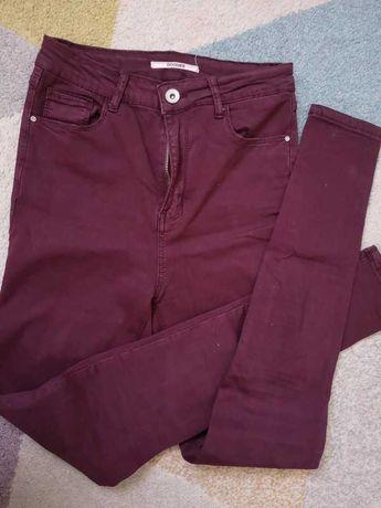 36 S spodnie rurki bordowe