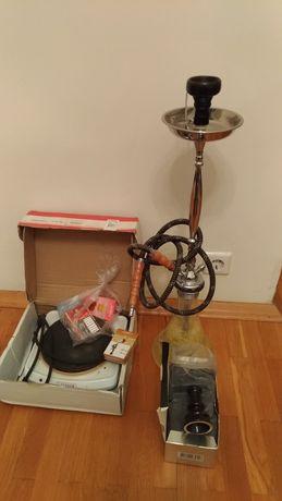 Колба, кальян, уголь, эл. комфорка, 2 чашки, мундштуки