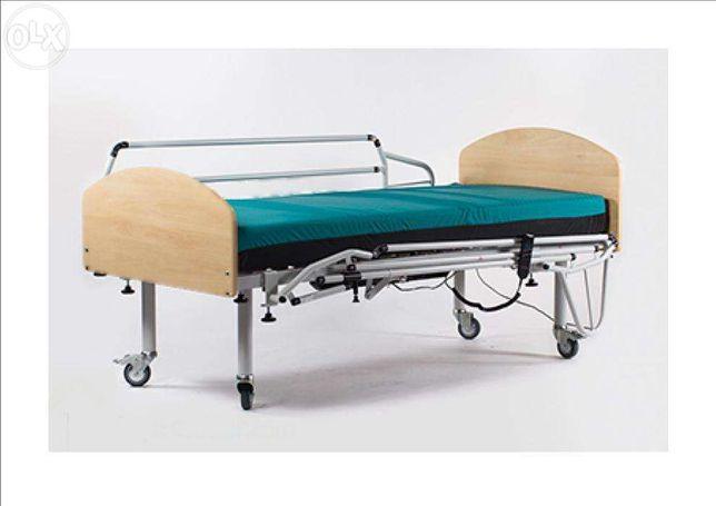 Aluguer cama articulada eléctrica com colchão anti-escaras