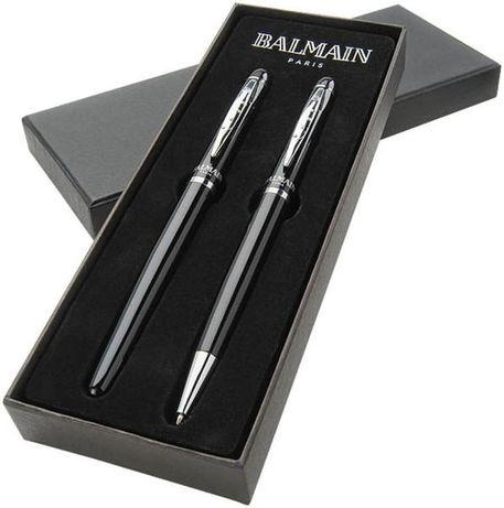 Zestaw piśmienniczy firmy BALMAIN PARIS NOWY kolor czarny