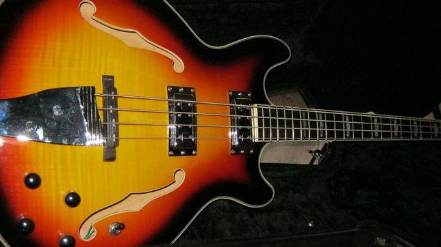 Gitara basowa Chowny CHB 2 34″ scale semi-hollow body