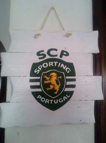 Quadro do Sporting pintado à mão