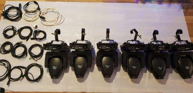 6x szt Głowy lampy Showtec Phantom LED BEAM 20 + kable