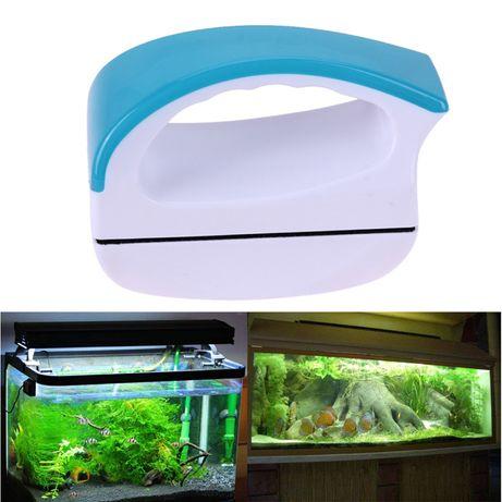 Магнитная щетка, скребок очиститель для чистки стекла аквариума