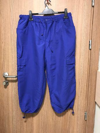 Spodnie dresowe 3/4 chabrowe rybaczki r.48 BonPrix NOWE Plus size