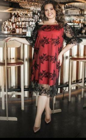 Шикарное платье батал до 62 размера