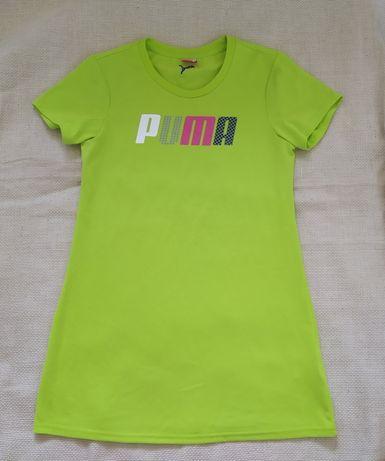 удлиненная футболка Puma оригинал S / M под кроссовки лосины супер