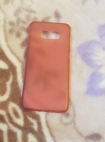 Capa em silicone rosa para Samsung S8+